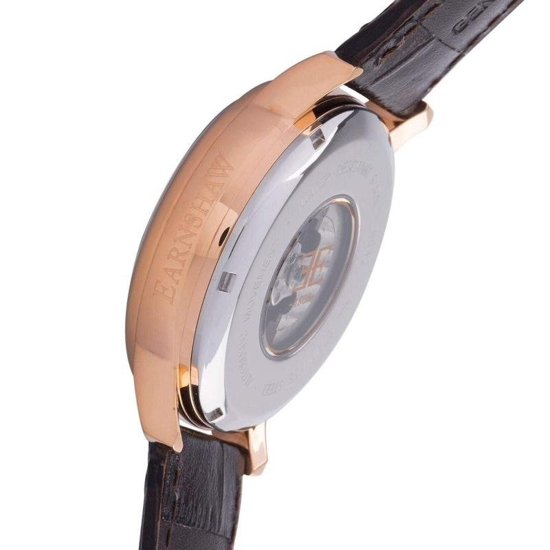 Earnshaw Leather Automatic Watch - ES-8042-05