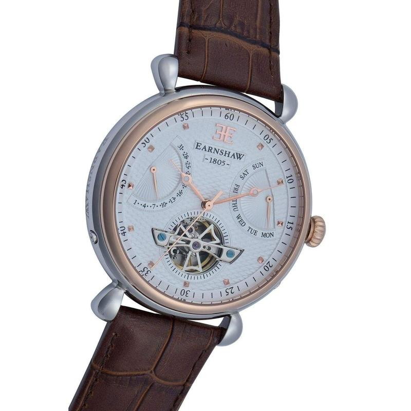 Earnshaw Leather Automatic Watch - ES804604