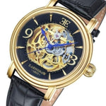 Earnshaw Longcase Automatic Leather Mens Watch - ES-8011-03