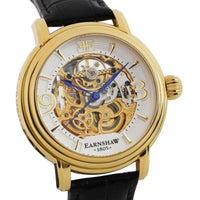 Earnshaw Longcase Automatic Leather Mens Watch - ES-8011-04