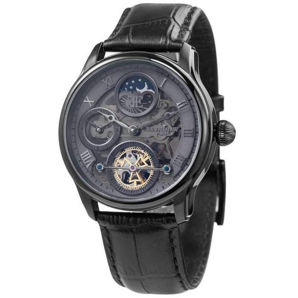 Earnshaw LONGITUDE SHADOW Automatic Leather Mens Watch - ES-8063-03-The Watch Factory Australia