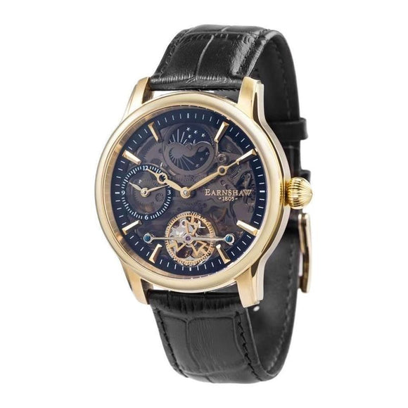 Earnshaw LONGITUDE SHADOW Automatic Leather Mens Watch - ES-8063-05-The Watch Factory Australia