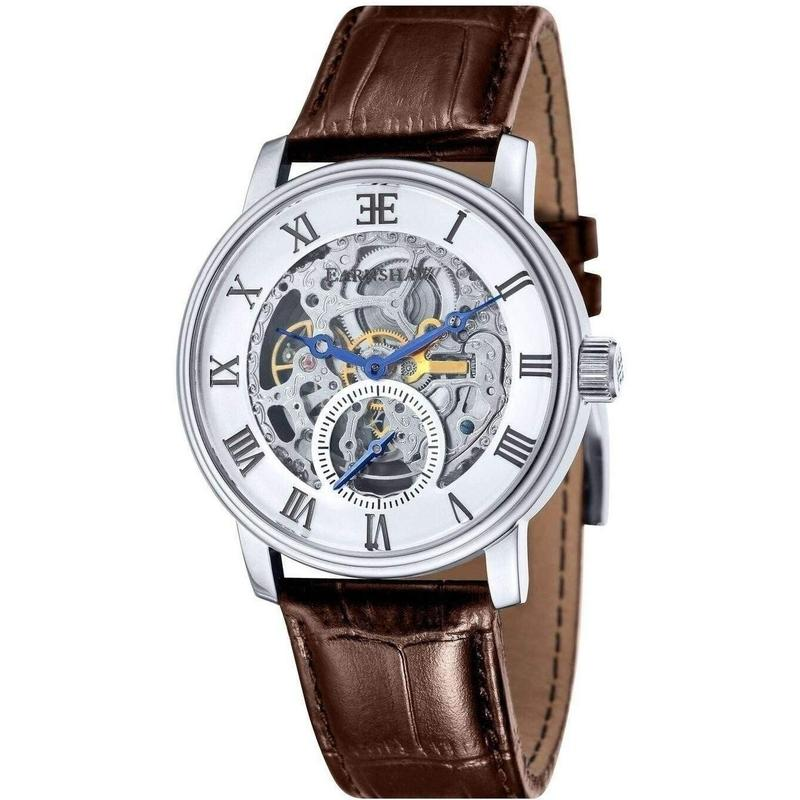 Earnshaw Westminster Automatic Leather Mens Watch - ES-8041-02