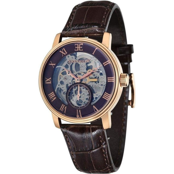 Earnshaw Westminster Automatic Leather Mens Watch - ES-8041-05-The Watch Factory Australia