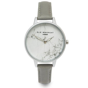 Elie Beaumont The Richmond - Slim Grey Nappa Leather Ladies Watch