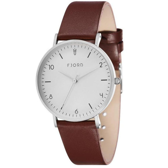 FJORD Brown Leather Watch - FJ-6037-02