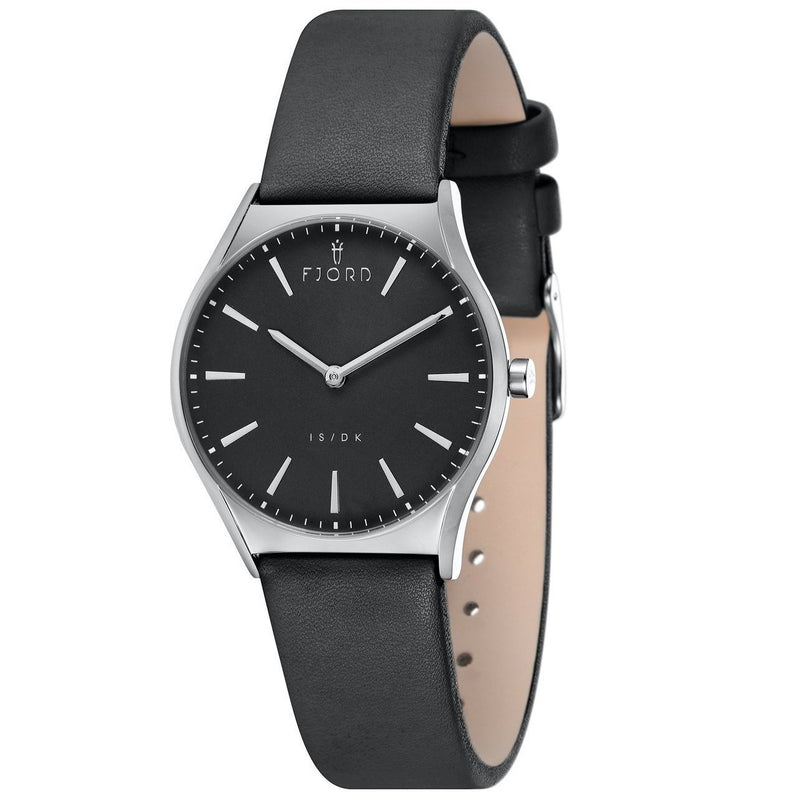 FJORD Vendela Black Leather Watch - FJ-6042-01