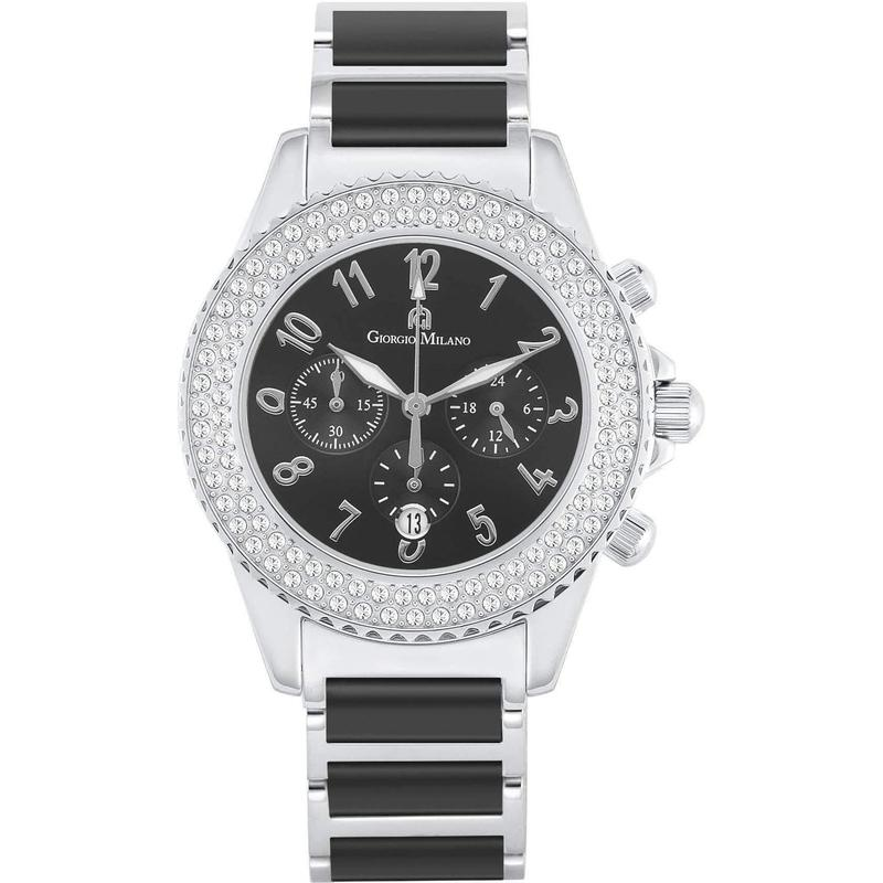 Giorgio Milano Chronograph Ceramic & Stainless Steel Female Watch - 974CBST03