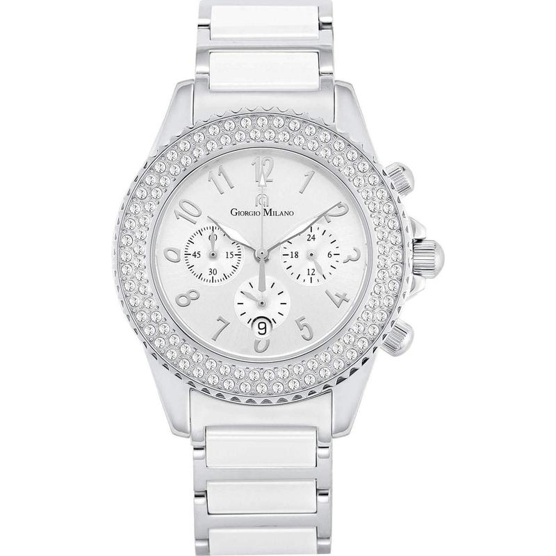 Giorgio Milano Chronograph Ceramic & Stainless Steel Ladies Watch - 974CWST02