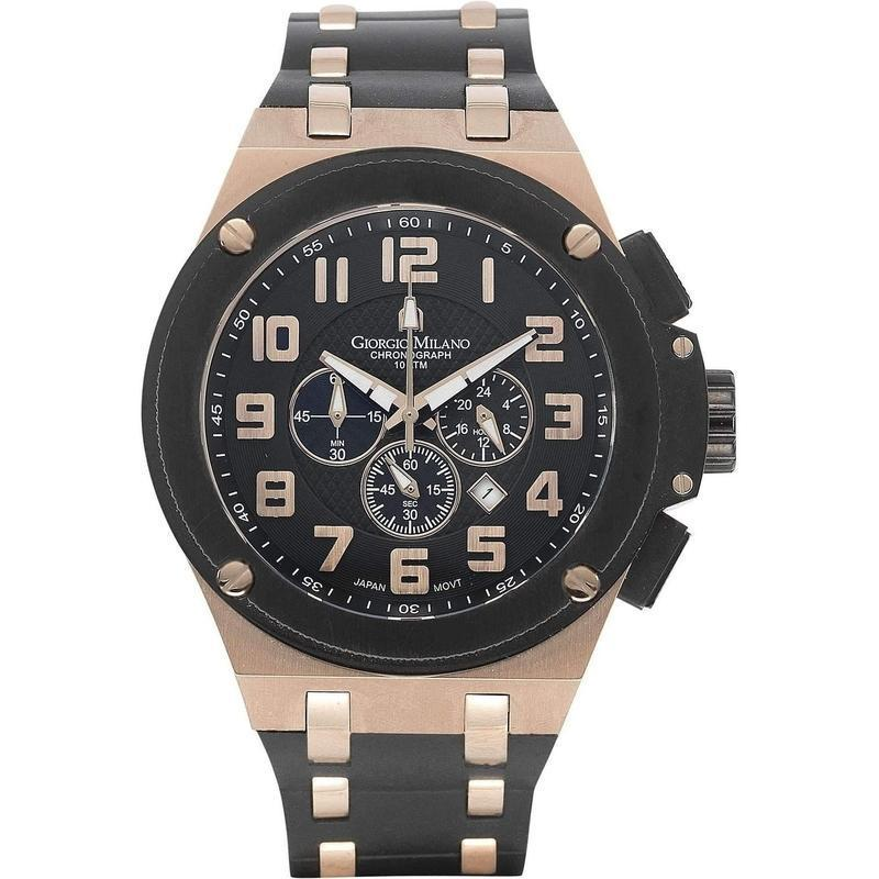 Giorgio Milano Chronograph Rubber Mens Watch - 928rgbk0313