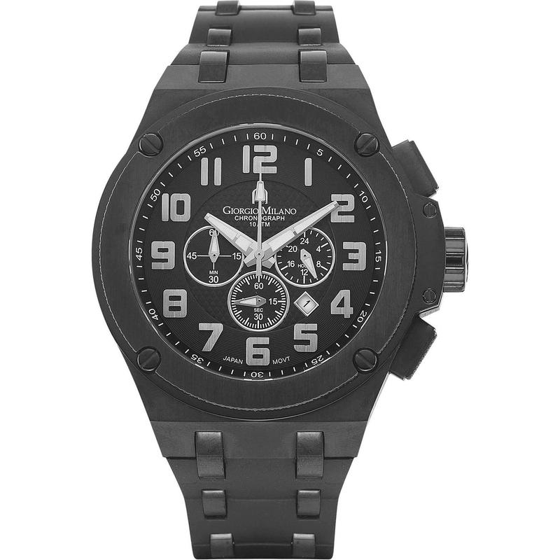 Giorgio Milano Chronograph Rubber Mens Watch - 928sbk0313