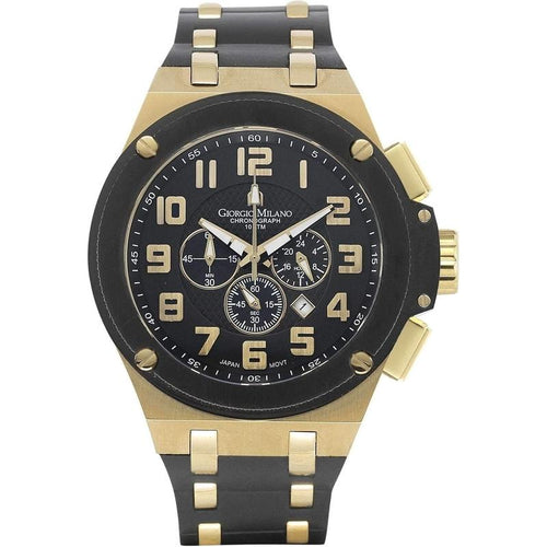 Giorgio Milano Chronograph Rubber Mens Watch - 928SGBK0313