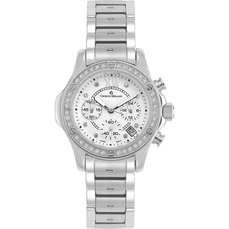 Giorgio Milano Chronograph Stainless Steel Ladies Watch - 814ST02