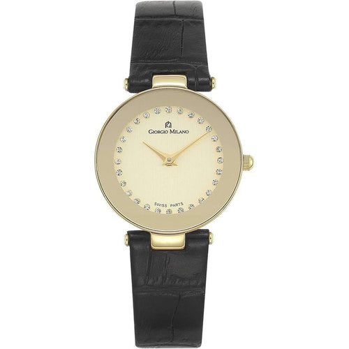 Giorgio Milano Slim Leather Ladies Watch - 776SG052
