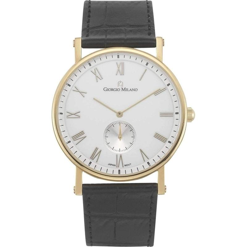 Giorgio Milano Slim Leather Mens Watch - 856RG012