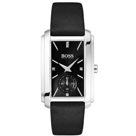 Hugo Boss Aspiration Black Leather Women's Watch - 1502436