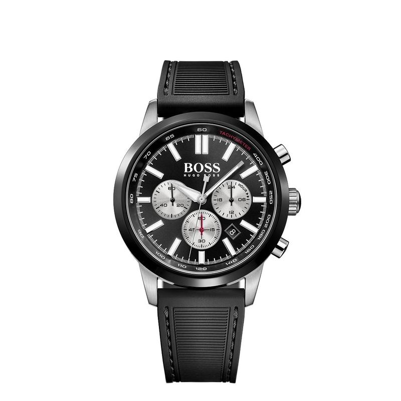 Hugo Boss Black Racing Chronograph Black Silicone Mens Watch - 1513186