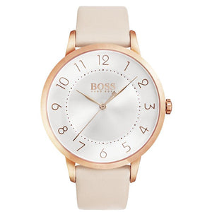 Hugo Boss Eclipse Pink Leather Ladies Watch - 1502407-The Watch Factory Australia