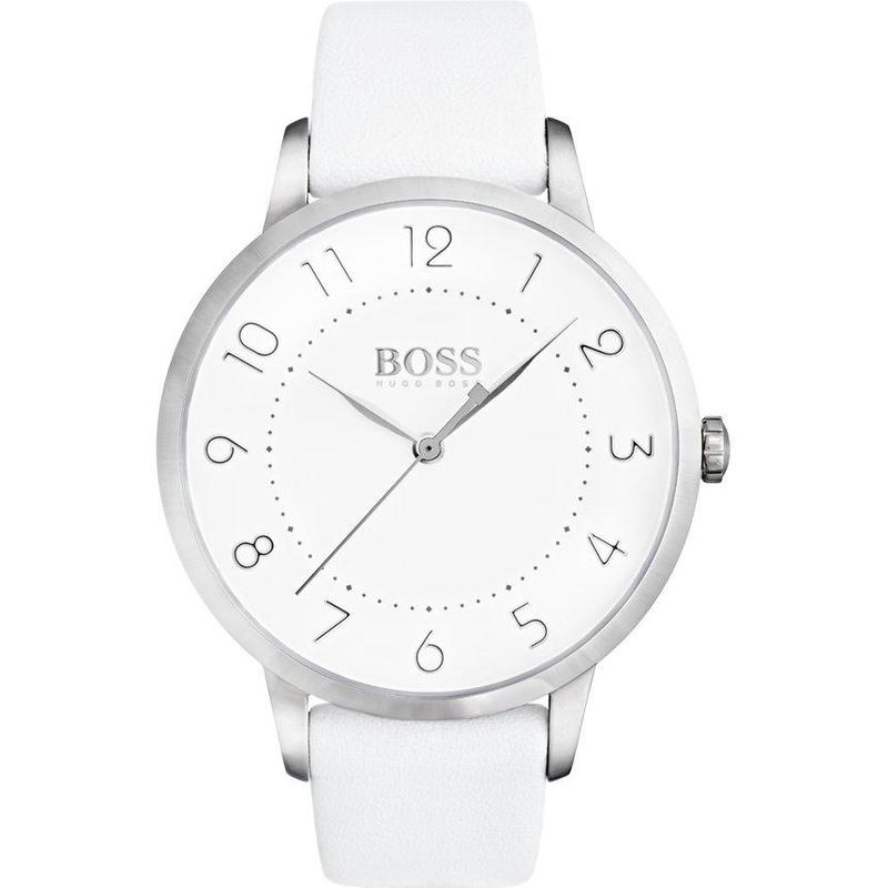 Hugo Boss Eclipse White Leather Ladies Watch - 1502409-The Watch Factory Australia