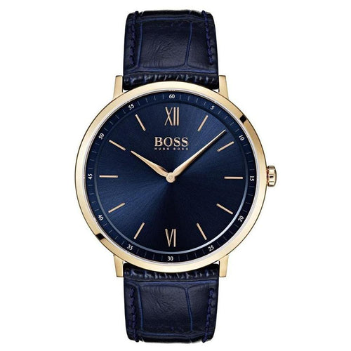 Hugo Boss Essential Blue Leather Men's Watch - 1513648