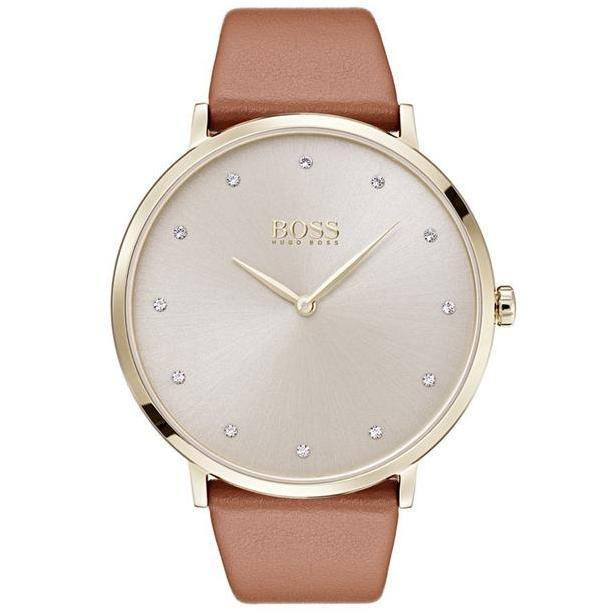 Hugo Boss Jillian Brown Leather Ladies Watch - 1502411-The Watch Factory Australia
