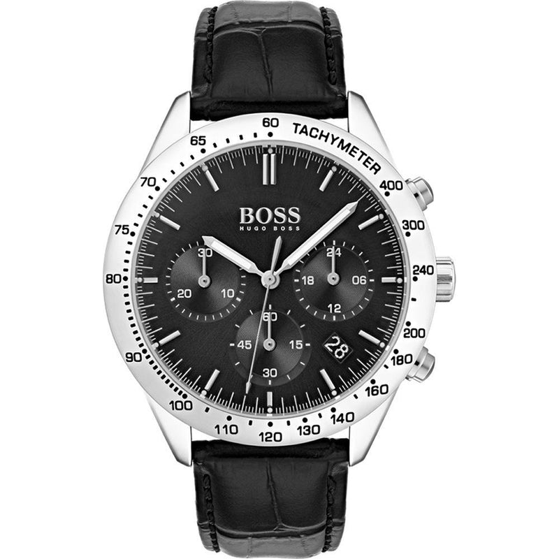 Hugo Boss Men's Black Leather Watch - 1513579-The Watch Factory Australia