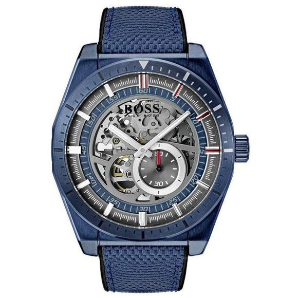 Hugo Boss Men's Signature Automatic Skeleton Watch - 1513645