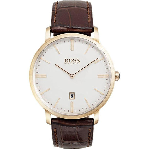 Hugo Boss Men's Tradition Brown Leather Watch - 1513463-The Watch Factory Australia