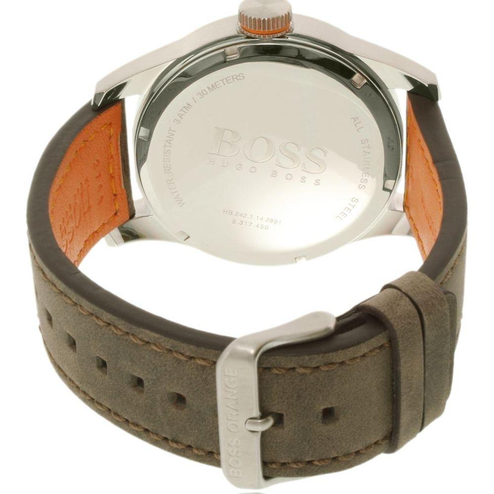 Hugo Boss Orange Brown Leather Mens Watch - 1513352 – The Watch ... 37a54f50ffe
