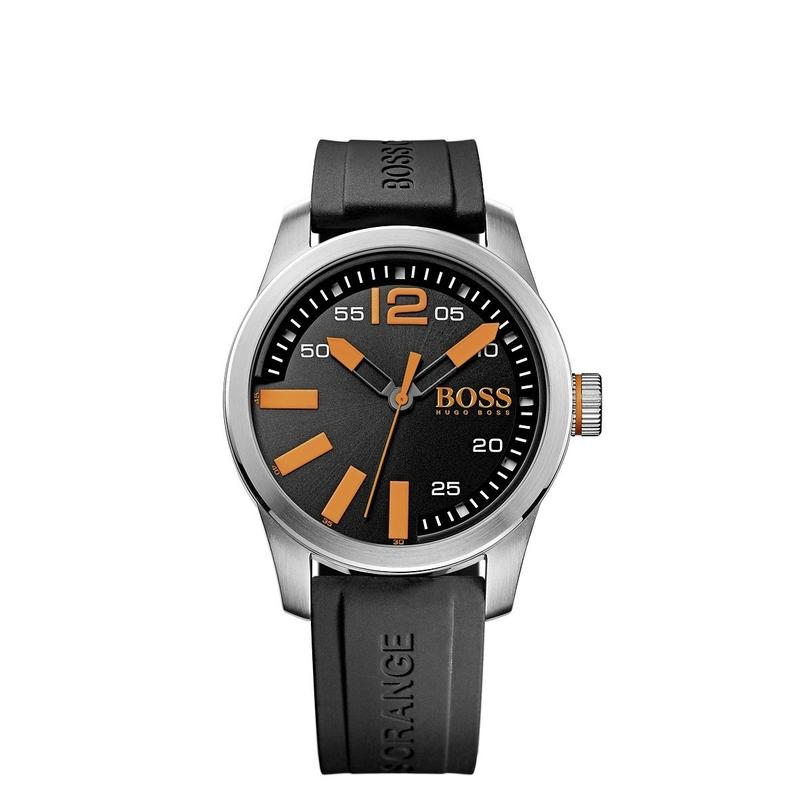 Hugo Boss Orange Paris Quartz Black Silicone Mens Watch - 1513059