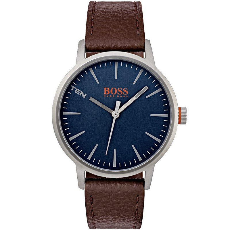 Hugo Boss Orange The Copenhagen Men's Leather Watch - 1550057-The Watch Factory Australia