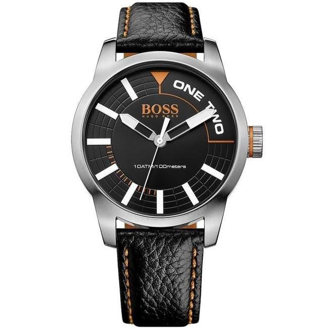 Hugo Boss Orange Tokyo Quartz Black Leather Mens Watch - 1513214