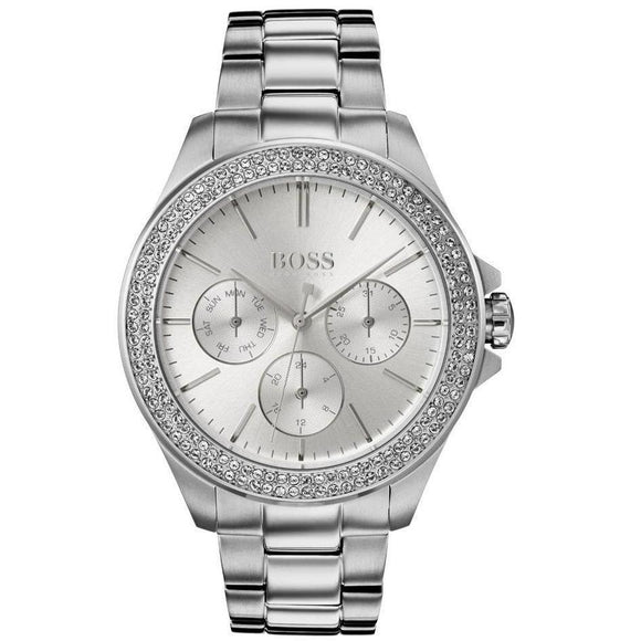Hugo Boss Premiere Silver Crystal Women's Watch - 1502442