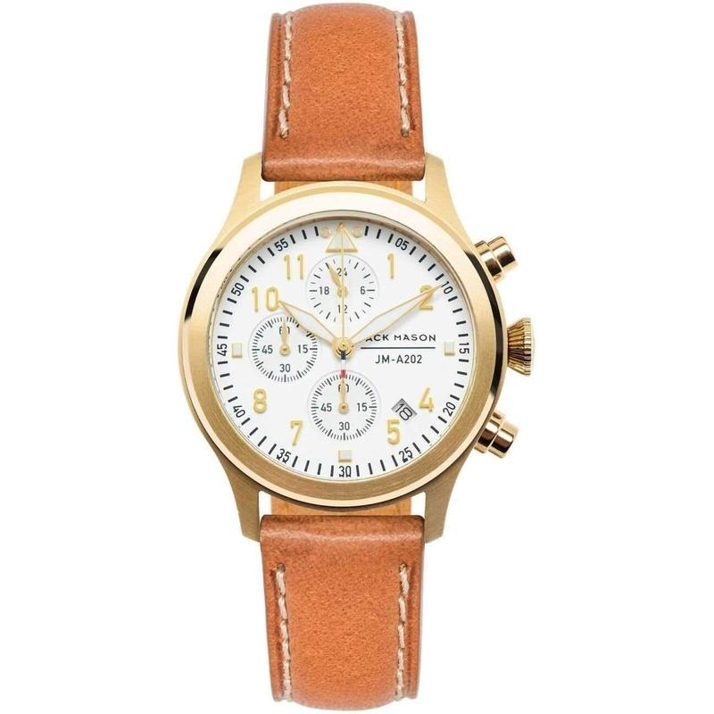Jack Mason Aviator Chronograph Leather Ladies Watch - JM-A202-002