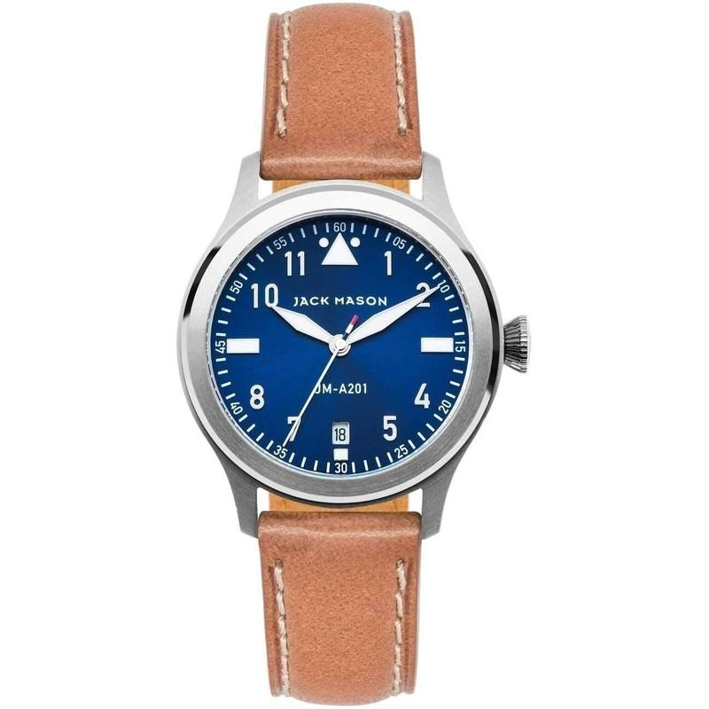 Jack Mason Aviator Leather Ladies Watch - JM-A201-001