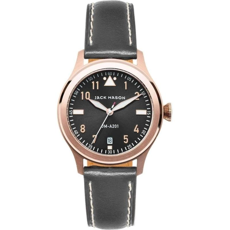 Jack Mason Aviator Leather Ladies Watch - JM-A201-003