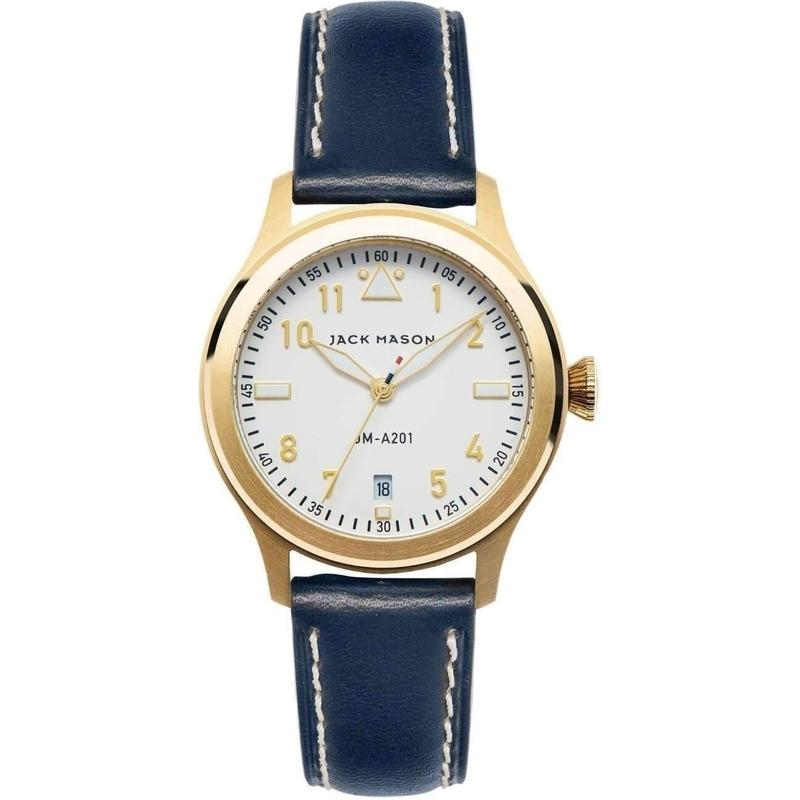 Jack Mason Aviator Leather Ladies Watch - JM-A201-004