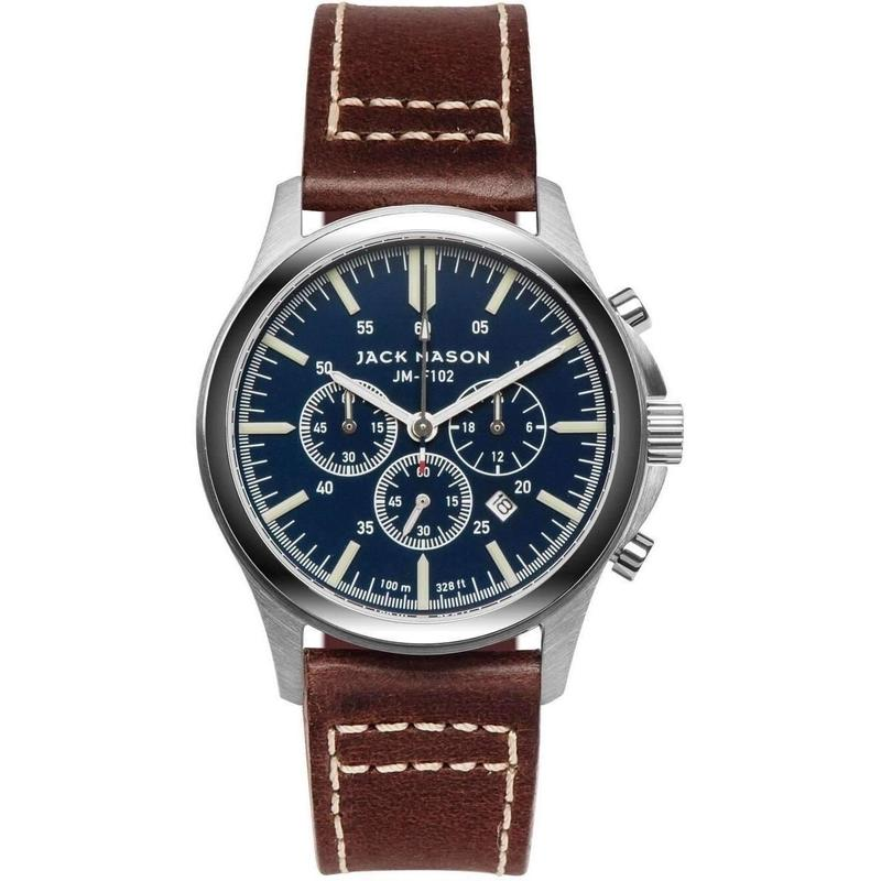 Jack Mason Field Chronograph Leather Mens Watch - JM-F102-014