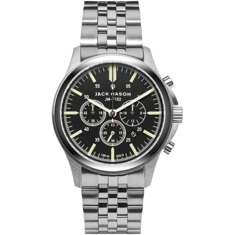 Jack Mason Field Chronograph Stainless Steel Mens Watch - JM-F102-014