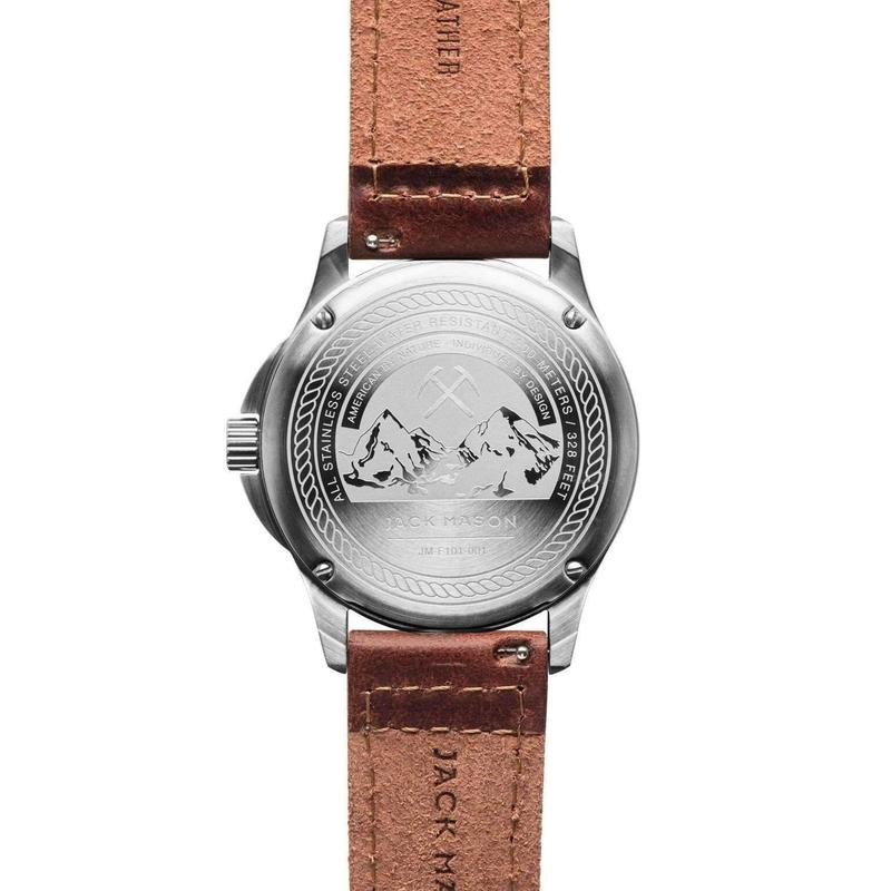Jack Mason Field Leather Mens Watch - JM-F101-001
