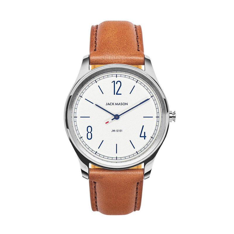 Jack Mason Men's White Slim Watch - JM-S101-001