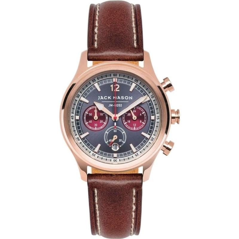 Jack Mason Nautical Chronograph Leather Ladies Watch - JM-N202-008