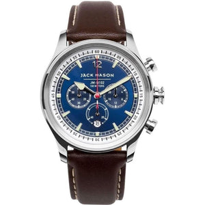 Jack Mason Nautical Chronograph Leather Mens Watch - JM-N102-015