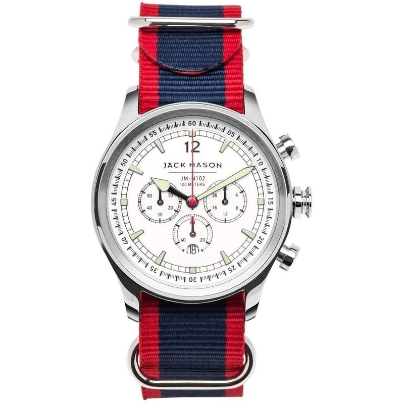 Jack Mason Nautical Chronograph Nato Mens Watch - JM-N102-028