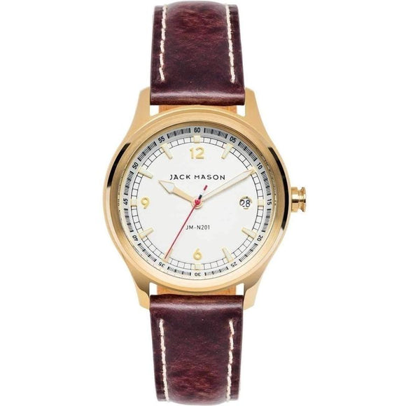 Jack Mason Nautical Leather Ladies Watch - JM-N201-002-The Watch Factory Australia