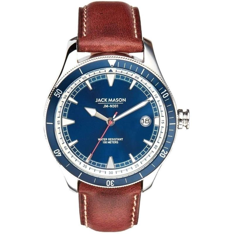 Jack Mason Nautical Leather Mens Watch - JM-N301-001