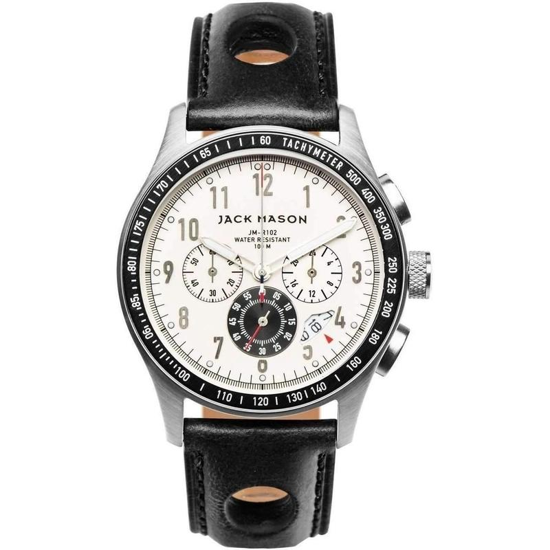 Jack Mason Racing Chronograph Leather Mens Watch - JM-R102-008