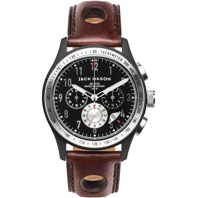 Jack Mason Racing Chronograph Leather Mens Watch - JM-R102-010