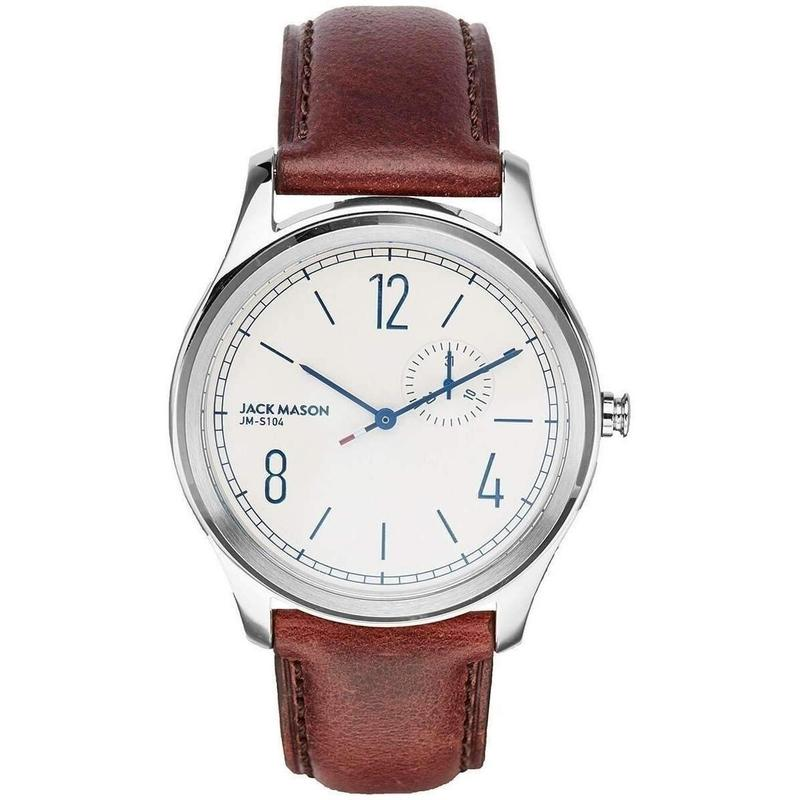 Jack Mason Slim Leather Mens Watch - JM-S104-021