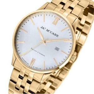 James McCabe London Slim Gold Watch -  JM-1016-44